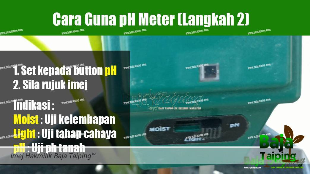 Cara Guna pH Meter Langkah 2